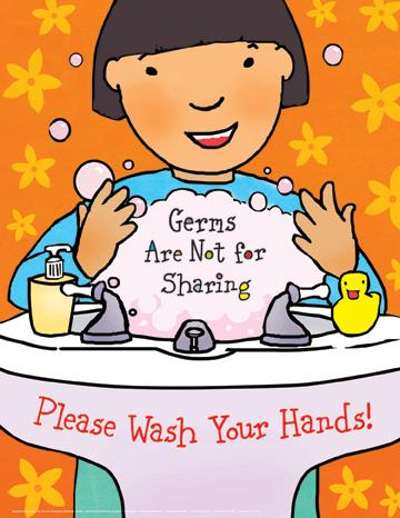 Germs from spreading laminated illustrated full color 17 x 22